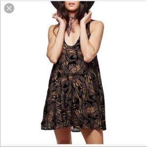 Free People Ellie Burnout Velvet Studded Dress